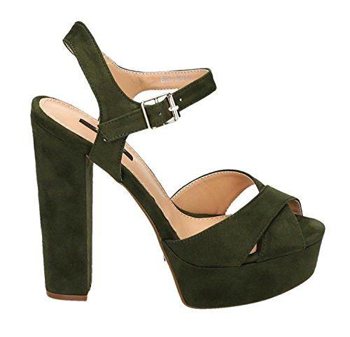 Damen Riemchen Abend Sandaletten High Heels Pumps Slingbacks Velours Peep Toes Party Schuhe Bequem 07