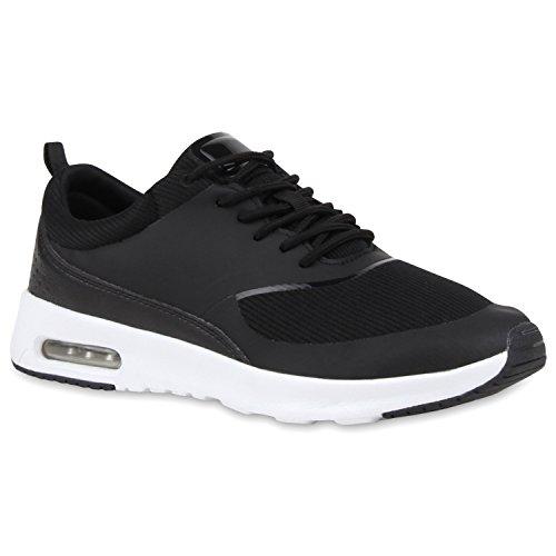 Damen Sportschuhe | Runners Sneakers | Laufschuhe Fitness | Trendfarben | Sportliche Schnürer | Flandell®