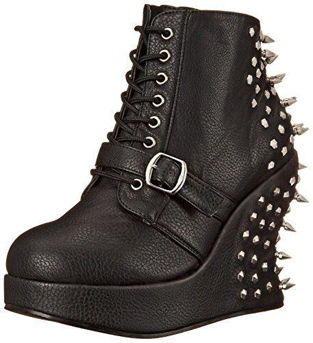 Demonia BRAVO-23, Damen Kurzschaft Stiefel, Schwarz (Schwarz (Blk Vegan Leather)), 41 EU (8 Damen UK)