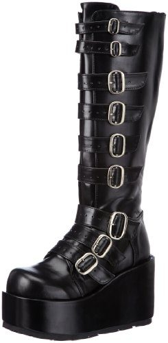 Demonia CONCORD-108 Damen Stiefel, Schwarz (Blk Vegan Leather), EU 39 (UK 6) (US 9)
