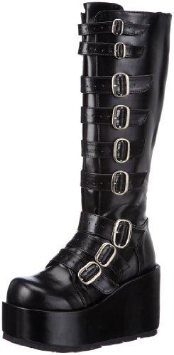 Demonia CONCORD-108 Damen Stiefel, Schwarz (Blk Vegan Leather), EU 39 (UK 6) (US 9)
