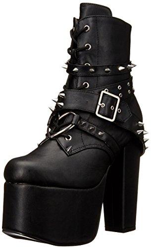 Demonia Damen Torment-700 Kurzschaft Stiefel, Schwarz (Schwarz (Blk Vegan Leather)), 39 EU