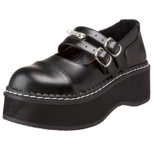 Demonia Emily-306 - Gothic Emo Lolita Mary Janes Schuhe 36-43, Größe:EU-41/42 / US-11 / UK-8