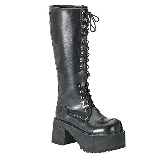 Demonia Ranger-302 - Gothic Industrial Unisex Plateau Stiefel Schuhe 36-43, US-Herren:EU-37 (US-M5)