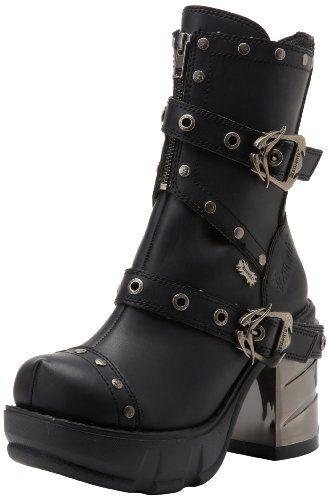Demonia SINISTER-201, Damen Halbschaft Stiefel, Schwarz (Schwarz (Blk Vegan Leather)), 39 EU (6 Damen UK)