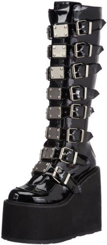 Demonia SWING-815 Damen Stiefel, Schwarz (Blk Pat), EU 39 (UK 6) (US 9)