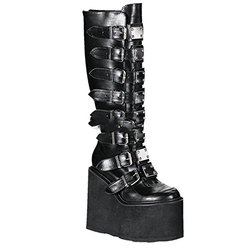 Demonia Swing-815 - Gothic Industrial Punk Mega Plateau Stiefel Schuhe 36-43, Größe:EU-43 / US-12 / UK-9