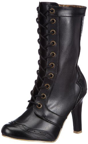 Demonia TESLA-102 Damen Stiefel, Schwarz (Blk Vegan Leather), EU 39 (UK 6) (US 9)