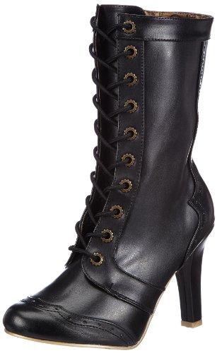 Demonia TESLA-102 Damen Stiefel, Schwarz (Blk Vegan Leather), EU 39 (UK 6) (US 9)