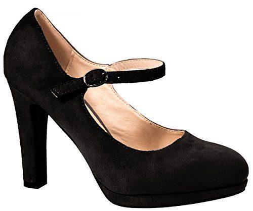 Elara Damen High Heels | Bequeme Spangen Pumps | Riemchen Stilettos