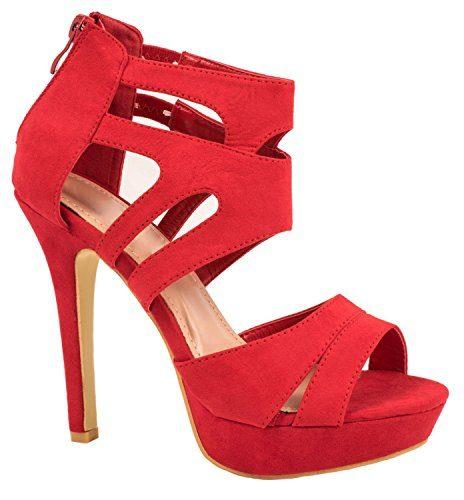 Elara Damen Pumps | Moderne Cut Out Stilettos | Wildlederoptik High Heels