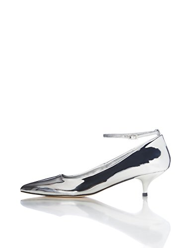 FIND Damen Maru Pumps, Silber (Silver), 39 EU