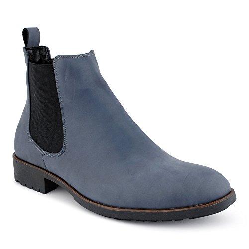 Herren Business Anzug Stiefel Stiefeletten Boots Casual Schnür Hochzeit Chelsea Velours-Optik Halb Schuhe