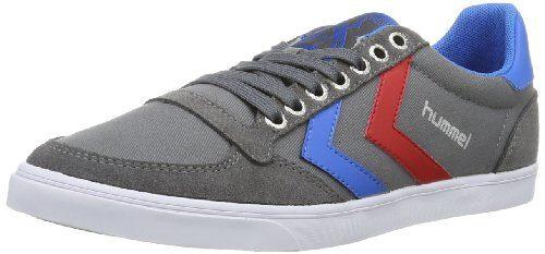 Hummel Sneaker Unisex Erwachsene – SLIMMER STADIL LOW – Freizeitschuh div. Farben - Halbschuh Leinen / Wildleder – Klassik Turnschuh Comfort Sohle