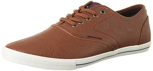 JACK & JONES Herren Jfwspider Pu Cognac Low-Top