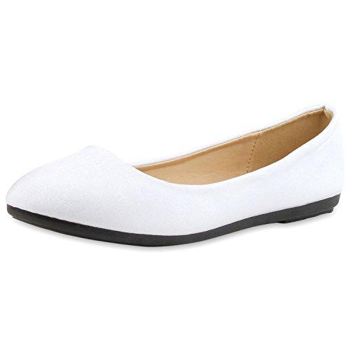 Klassische Damen Ballerinas Lederoptik Bequeme Schuhe Freizeit Glitzer Brautschuhe