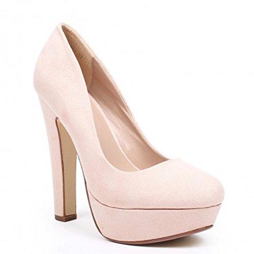Klassische Damen Pumps Stilettos High Heels Plateau Abend Schuhe Bequem 21