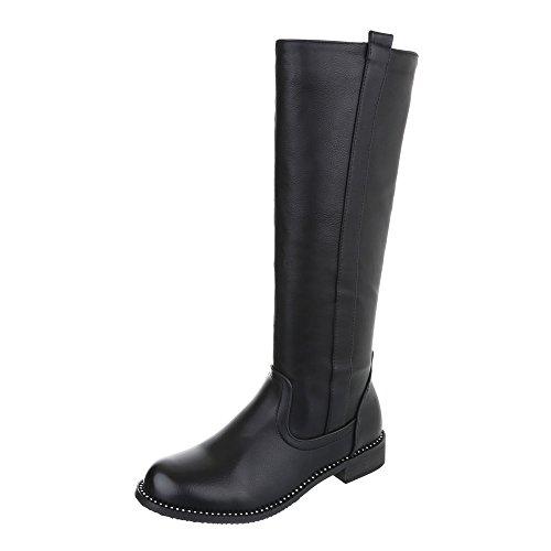 Klassische Stiefel Damenschuhe Klassischer Stiefel Blockabsatz Blockabsatz Reißverschluss Ital-Design Stiefel