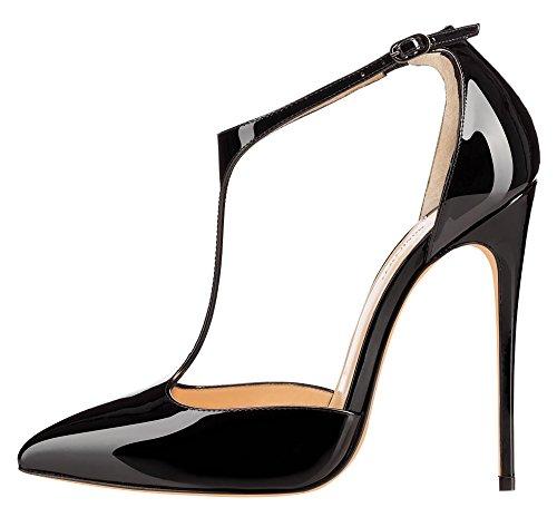 monicoco bergre high heels damenschuhe lackleder t spangen. Black Bedroom Furniture Sets. Home Design Ideas