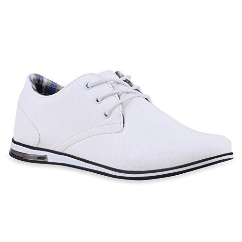Modische Herren Schuhe | Business Schnürer | Halbschuhe Sneakers | Prints Lederoptik Freizeitschuhe | Flandell®