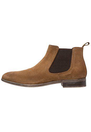 Pier One Chelsea Boots Herren aus Leder in Schwarz oder Braun – Casual Stiefel mit Kurzschaft – Jodhpur Stiefelette sportlich elegant