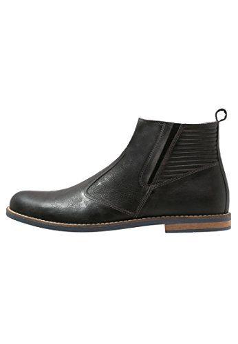 Pier One Stiefeletten Herren Grau o. Cognac – Lederschuhe halbhoch & elegant – Chelsea Boots klassisch & aus Leder – Kurzschaft Schuhe mit Zuglasche