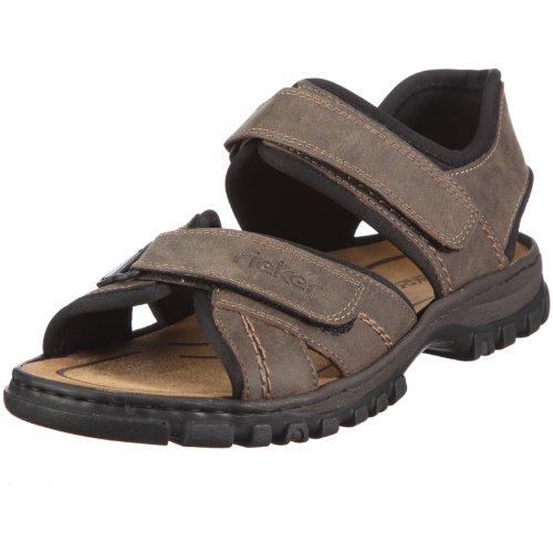 Rieker 25051 Sandals-Men, Herren Sandalen, Braun (tabak/schwarz/27), 43 EU