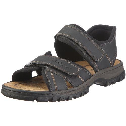 Rieker 25051 Sandals-Men, Herren Sandalen, Schwarz (schwarz/schwarz/01), 44 EU
