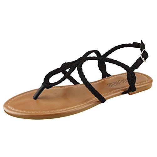 SANDALUP Geflochten Damen Sandalen