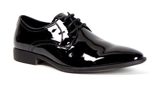 Smokies - Edward - Smoking Schuhe für Herren in schwarz aus Lack Leder mit Innenfutter - Schuhgrößen 41 bis 46