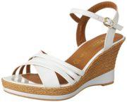 Tamaris Damen 28394 Offene Sandalen mit Keilabsatz, Weiß (White Uni 122), 38 EU
