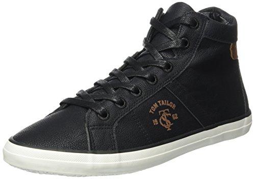 tom tailor damen 3791602 hohe sneaker schwarz black 38 eu. Black Bedroom Furniture Sets. Home Design Ideas