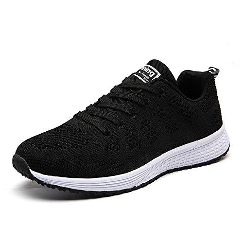 UMmaid Damen Sneaker Laufschuhe Turnschuhe Atmungsaktive Mesh Schnür Schuhe Low Top Sportschuhe
