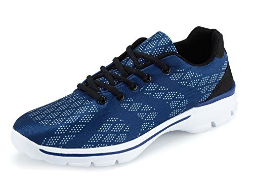 UMmaid Herren Laufschuhe Atmungsaktiv Gym Turnschuhe Freizeit Schnürer Sportschuhe Sneaker