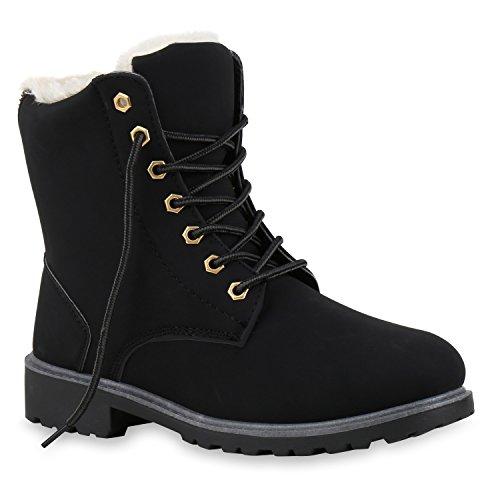 Unisex Worker Boots | Warm Gefütterte Schuhe |Damen Herren Stiefeletten | Knöchelhohe Stiefel Zipper | Kunstfell Profilsohle Blockabsatz | Schnürer Booties Camouflage | Outdoor | Flandell®