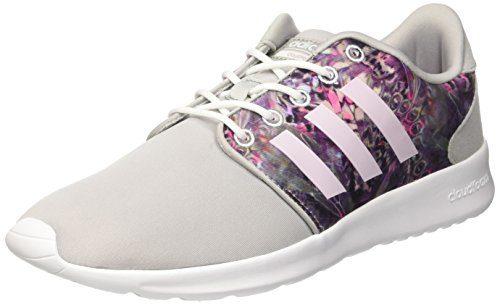 adidas Damen Cloudfoam Qt Racer Sneakers, Bianco