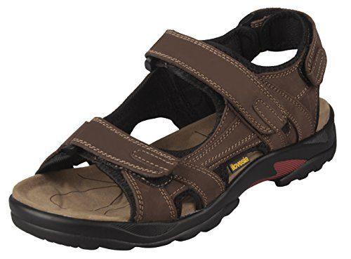 sandale Leder 41.5 herren pantoletten schuhe casual sport Sandale Braun Wanderschuhe