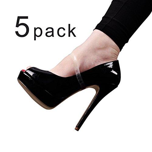Onlymaker Damen 5 Paar Schn¨¹rsenkel Silikagel Schuhe Cross Straps High Heels Anti-lose unsichtbar Zubeh?r fuer Schluepfen Pumps