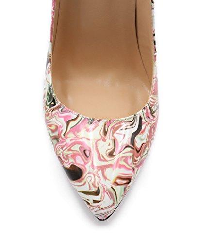 uBeauty Damen High Heels Stilettos Slip-on Pumps Spitze Zehen Klassischer Übergröße Schuhe Grün 43 EU