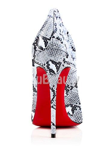 uBeauty Damen High Heels Stilettos Slip-on Pumps Spitze Zehen Klassischer Übergröße Serpentin Pumps 42.5 EU