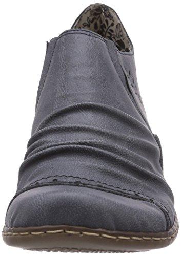 Rieker 52176 Women Loafers, Damen Slipper, Blau (jeans/15), 40 EU