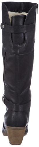 Rieker 91552 Damen Langschaft Stiefel, schwarz (schwarz/00), 39