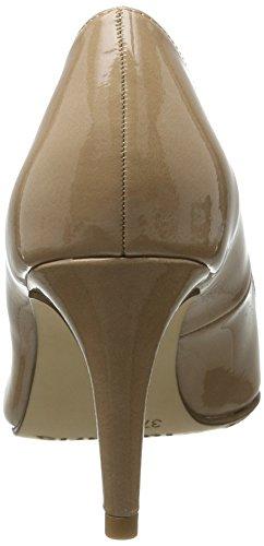 Tamaris Damen 22447 Pumps, Beige (Nude Patent 253), 39 EU