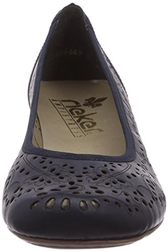 Rieker 47665 Women Closed-Toe, Damen Pumps, Blau (pilot/14), 38 EU