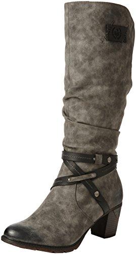 Rieker Damen 96054 Stiefel, grau (smoke/black / 45), 40 EU