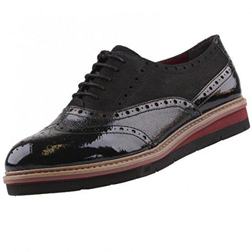 TAMARIS Damen Schnürschuhe Schwarz, Schuhgröße:EUR 40