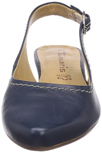 Tamaris 29400, Damen Slingback Pumps, Blau (Navy Leather 825), 40 EU (7 Damen UK)