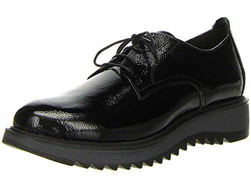 TAMARIS Damen Schnürschuhe Schwarz, Schuhgröße:EUR 38