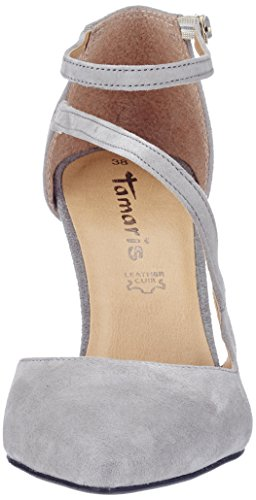 Tamaris Damen 24423 Pumps, Grau (Grey 200), 36 EU