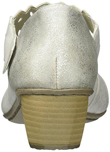 Rieker Damen 41796 Pumps, Grau (Grey/Shark / 40), 40 EU